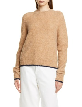 Tipped Alpaca & Merino Wool Blend Crewneck Sweater by Vince