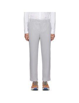 Grey Basics Trousers by Homme PlissÉ Issey Miyake
