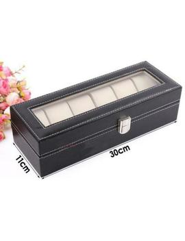 3/6/12 Leather Watch Box Case For Unisex Wrist Display Jewelry Organizer Storage by Ebay Seller