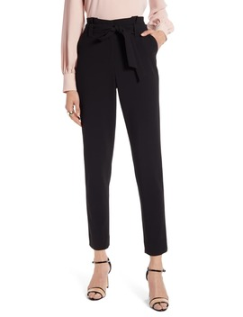 Paperbag Waist Twill Pants by Halogen®