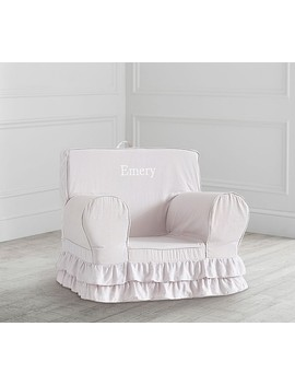 Dusty Lavender Ruffle Anywhere Chair® by Pottery Barn Kids