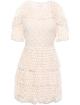Tiered Embroidered Tulle Mini Dress by Sandro