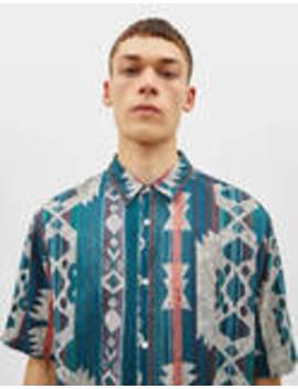 Košile S Geometrickým Potiskem by Bershka