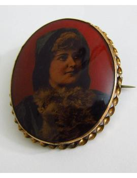 Antique Victorian Photo Mourning Brooch by Etsy