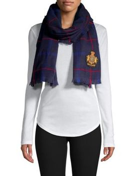 Plaid Logo Scarf by Lauren Ralph Lauren