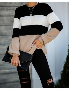 Middleton Colorblock Knit Sweater by Vici