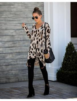 Reggie Leopard Knit Tunic by Vici