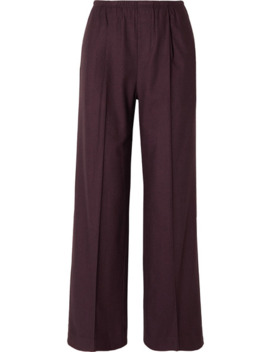 Pleated Flannel Track Pants by Vince