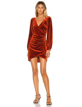 Lash Out Mini Dress In Copper by The Jetset Diaries