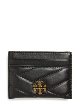Kira Chevron Leather Card Case by Tory Burch