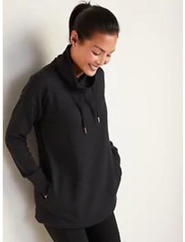 Sweater Knit Mock Neck Tunic Sweatshirt For Women by Old Navy