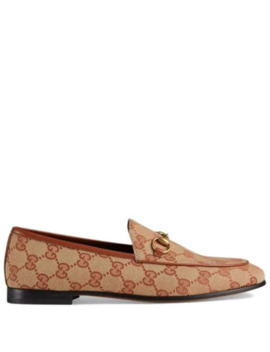 Gucci Jordaan Gg Canvas Loafers by Gucci