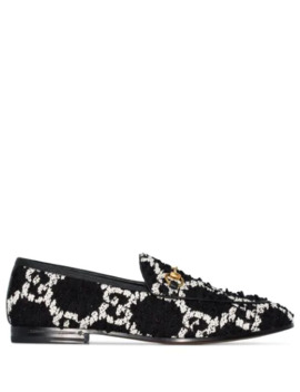 Jordaan Gg Pattern Loafers by Gucci