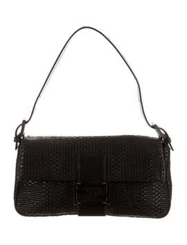 Zucca Woven Leather Baguette by Fendi