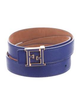 Leather Logo Belt by Fendi