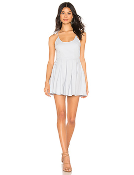 Trisha Cross Back Dress In Light Blue by Superdown