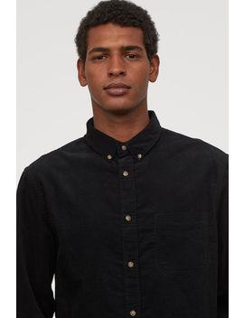 Sztruksowa Koszula Regular Fit by H&M