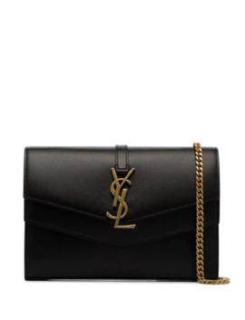 Black Sulpice Logo Cross Body Bag by Saint Laurent