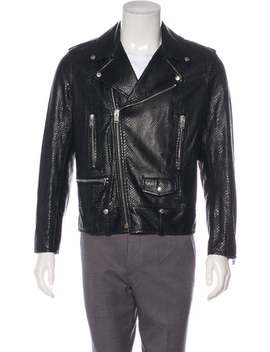 Python Biker Jacket by Saint Laurent