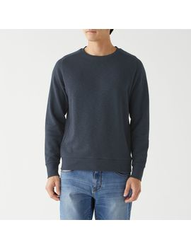 Organic Cotton Uneven Yarn French Terry Pullover by Muji