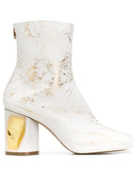Metallic Print Boots by Maison Margiela