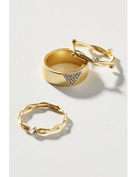 Euphemia Stacking Ring Set by Anthropologie