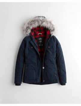 Stretch Flannel Lined Twill Jacket by Hollister