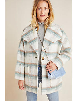 Elsa Plaid Coat by Anthropologie