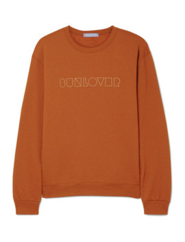 Sunlover Embroidered Cotton Blend Jersey Sweatshirt by Paradised