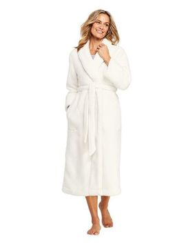 Women's Petite Sherpa Fleece Long Robe by Lands' End
