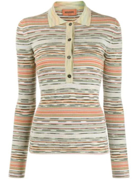 Stripe Patterned Knitted Polo Shirt by Missoni