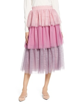 X Atlantic Pacific Tiered Tulle Skirt by Halogen