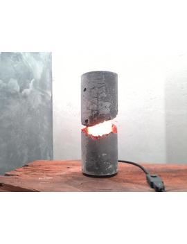 Concrete Lamp Concrete Table Lamp   Brutal Lamp 138 by Etsy