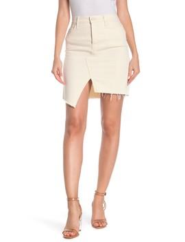 Tomcat Slide Fray Denim Mini Skirt by Mother