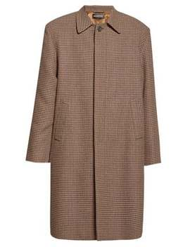 Houndstooth Check Wool Overcoat by Balenciaga