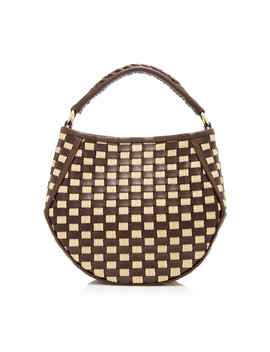 Corsa Mini Woven Leather Top Handle Bag by Wandler