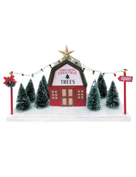 10 In. Lit Treefarm Decor10 In. Lit Treefarm Decor by At Home
