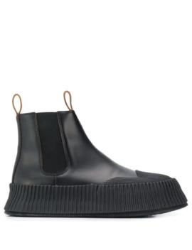 Flatform Chelsea Boots by Jil Sander