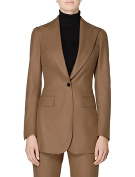 Cameron Peak Lapel Long Jacket by Suistudio