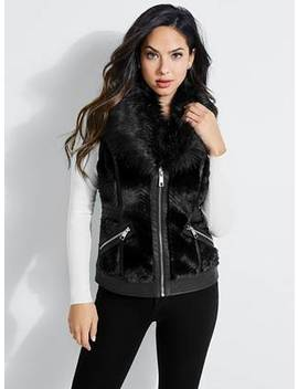 Jayden Faux Leather Vest by Guess