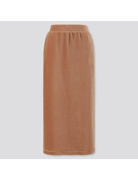 Women Corduroy Long Narrow Skirt by Uniqlo