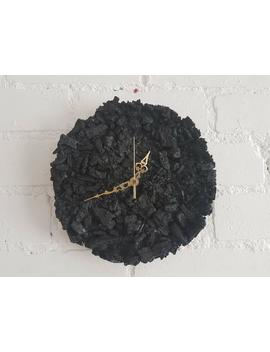 Black Wall Clock | Charcoal | Wall Clock | Modern Clock | Unique Clock | Wooden Wall Clock | Black Clock | Gothic Decor | Wicca Decor by Etsy