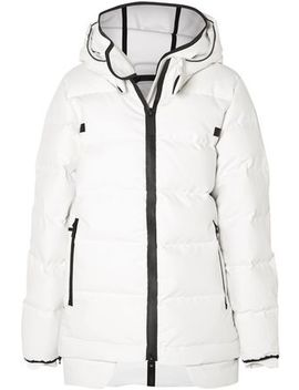 Quilted Cotton Blend Shell Hooded Jacket by Templa