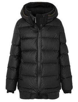 Quilted Shell Hooded Down Jacket by Templa