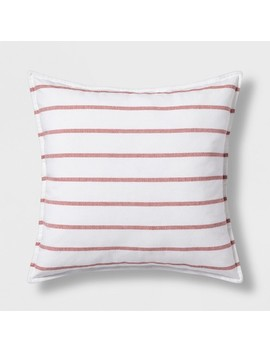 Woven Stripe Oversize Square Throw Pillow   Threshold™ by Threshold