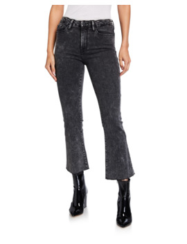 Le Crop Mini Boot Cut Acid Wash Jeans by Frame