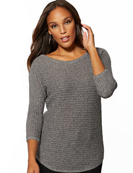 Bateau Neck Dolman Sweater by New York & Company