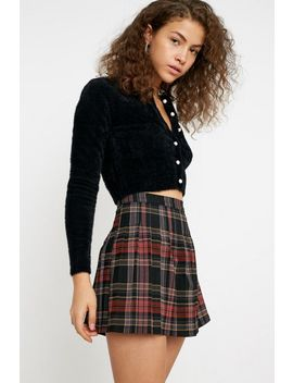 Uo Plaid Pleated Mini Skirt by Urban Outfitters