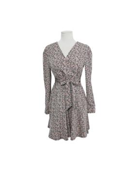 Tie Waist Mini Floral Dress by Stylenanda