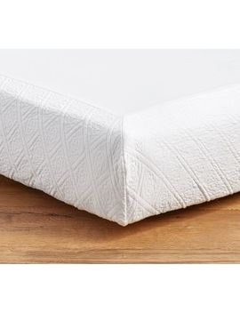 Reeve Matelasse Organic Boxspring Cover, Full, White by Pottery Barn